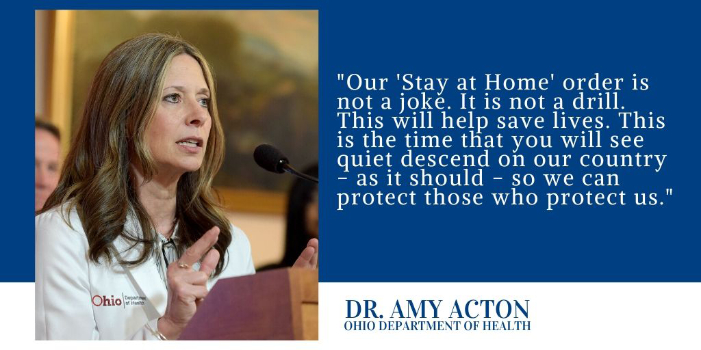 "Dr. Amy Acton ""Stay at Home"""